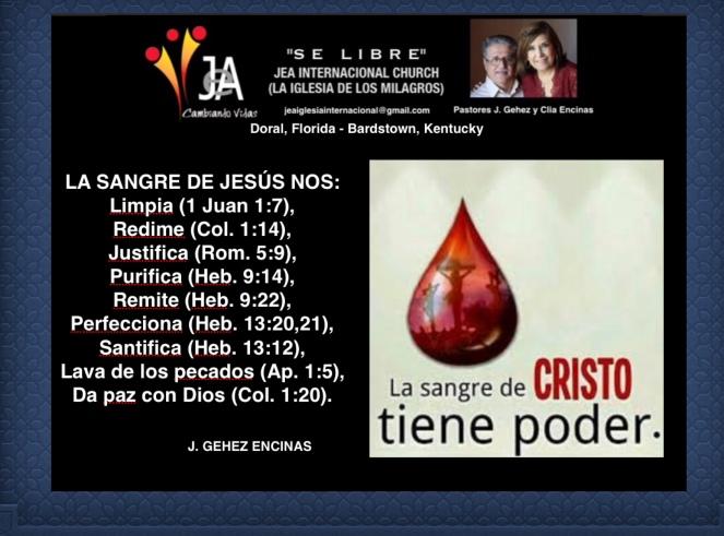 Hay poder en la sangre de Jesús. – JEA El Monte de Oracion